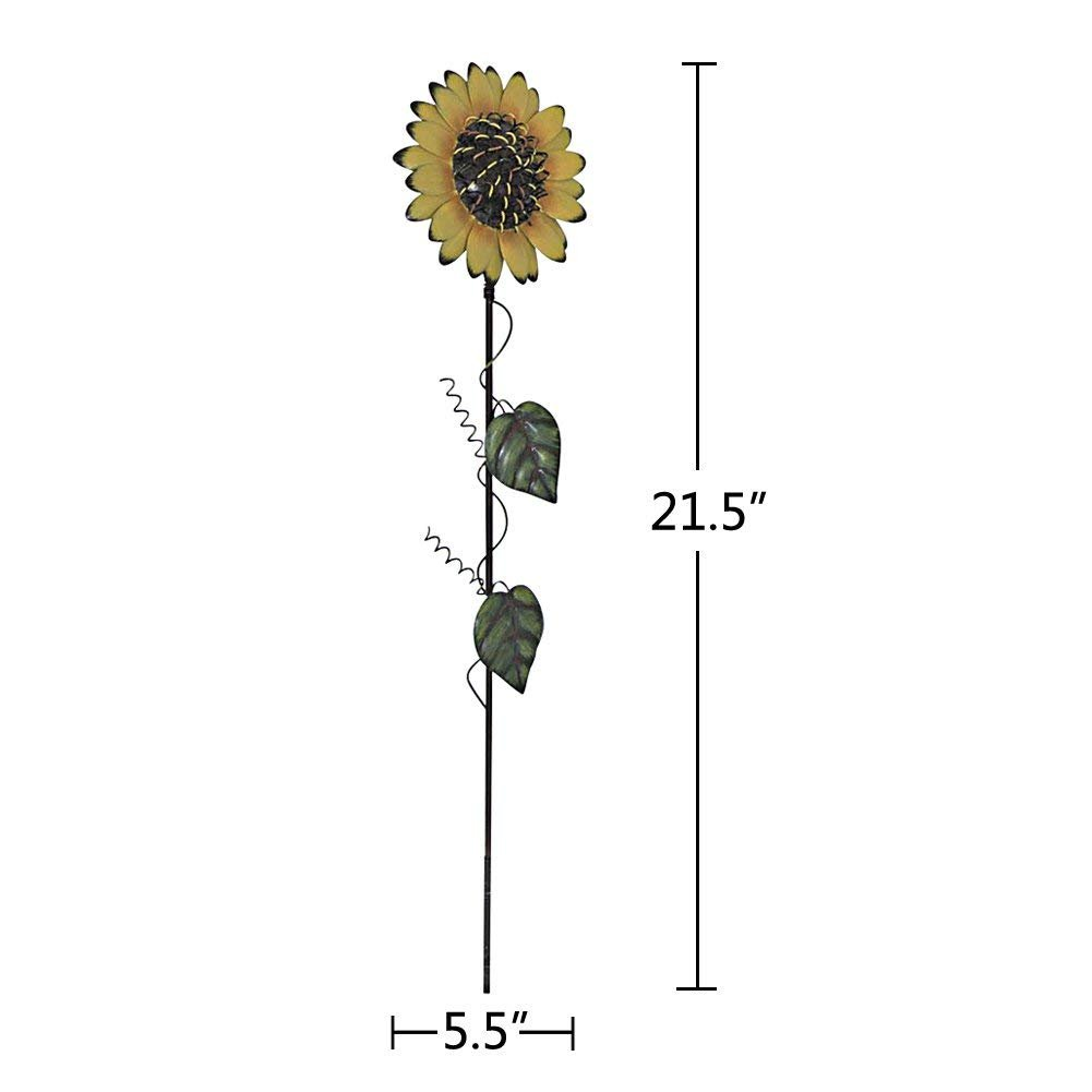 Grace Home Metal Sunflower Garden Stake Large Flower Patio Lawn Yard Stake Decor by Grace Home (Image #2)