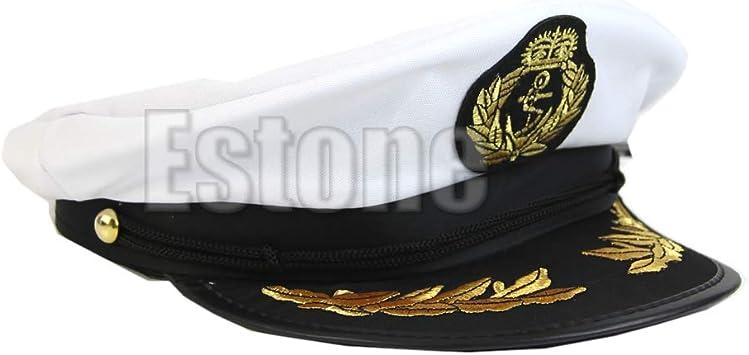 Sombrero De Marinero Adulto Blanco Barco Capitán Capitán Gorra ...