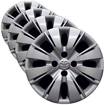 OEM Genuine Toyota Wheel Cover - 15-inch Factory Replacement Hubcap Fits Yaris 2012-2014 (Set of 4 Professionally Reconditioned Wheel Covers), ...