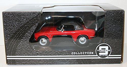 Honda S800 Cabrio mit Softtop, rot, 1966, Modellauto, Fertigmodell, Triple 9 Collection 1:18