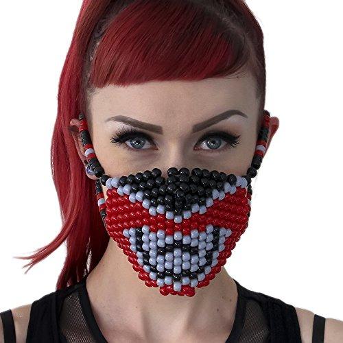 Red Power Ranger Surgical Kandi Mask by Kandi -