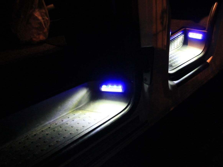 LED-Mafia/® Trittbrettstufenbeleuchtung Halogen Trittbrettbeleuchtung 4 x blau