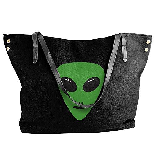Large Handbag Canvas Black Picks Shoulder Tote Hand Bag Alien Women's U5Rw1qvxx