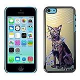 LASTONE PHONE CASE / Slim Protector Hard Shell Cover Case for Apple Iphone 5C / Havana Brown Egyptian Art Cat Royal