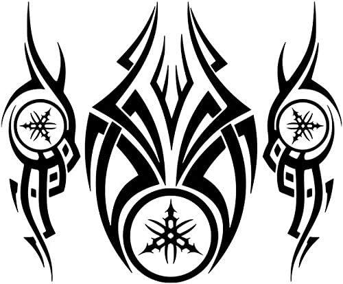 Kit x3 Pegatinas Vinilo Logo Yamaha Tribal - Casco, Coche, Moto ...