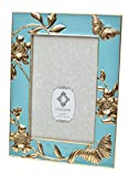 turquoise and gold picture frames - Concepts Blue Cast Metal Picture Frame With Gold Butterfly Flower 4