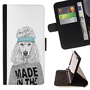 DEVIL CASE - FOR Apple Iphone 6 - Funny Made In The USA Dog - Style PU Leather Case Wallet Flip Stand Flap Closure Cover