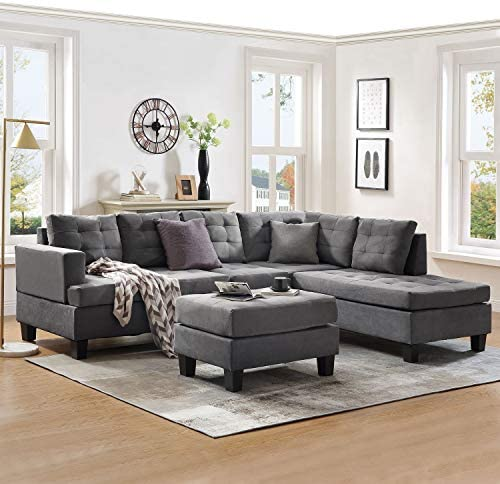 picture of Harper & Bright Designs Sofa Sectional Sets 3-seat - Chaise