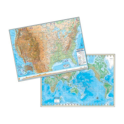world map physical - 8