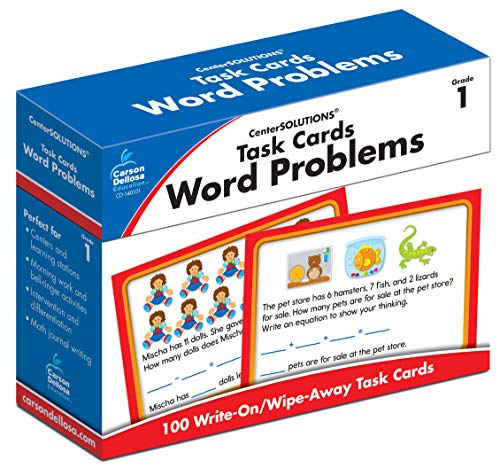 Task Cards: Word Problems, Grade 1 (Addition And Subtraction Word Problems Grade 4)