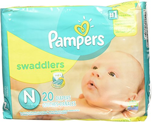 Pampers Swaddlers Newborn 240 Diapers (12 packs of 20 ...
