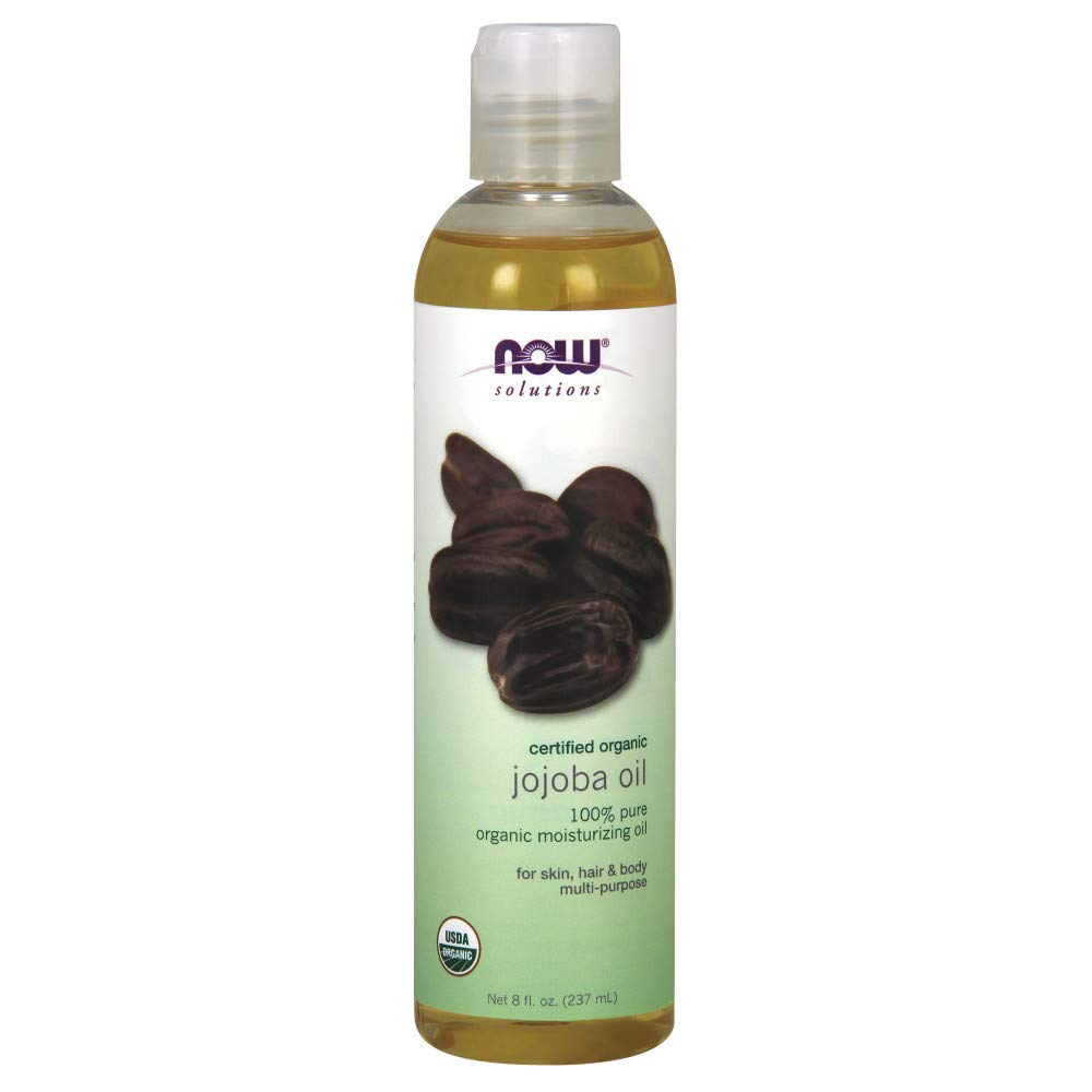 NOW Solutions Certified Organic Jojoba Oil, 4-Ounce