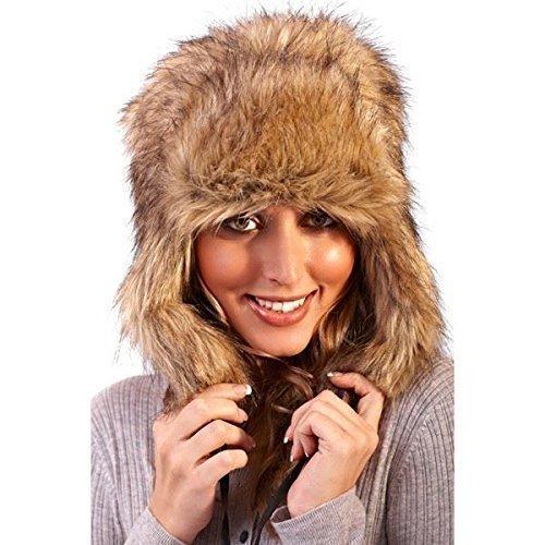 Womens Boutique Faux Fur Outdoor Ski Trapper hat Continental Textiles