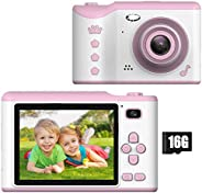 Kids Digital Camera - 18MP Children's Camera with Large Touch Screen for 3-12 Years Old Boys and Girls, Re