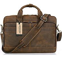 Jack&Chris New High Quality Genuine Leather Men's Briefcase Laptop Bag Shoulder bag Handbag, NM1871