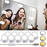 LED Vanity Mirror Lights Kits-Rantizon Hollywood Style LED Makeup Lights with 10 Dimmable Bulbs for Makeup Dressing Table with 5 Gear Adjustable Brightness Touch Dimmer and USB Power Cord(Mirror Not Include)