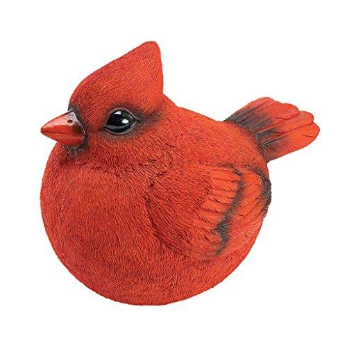 Chubby Cardinal Garden Statue