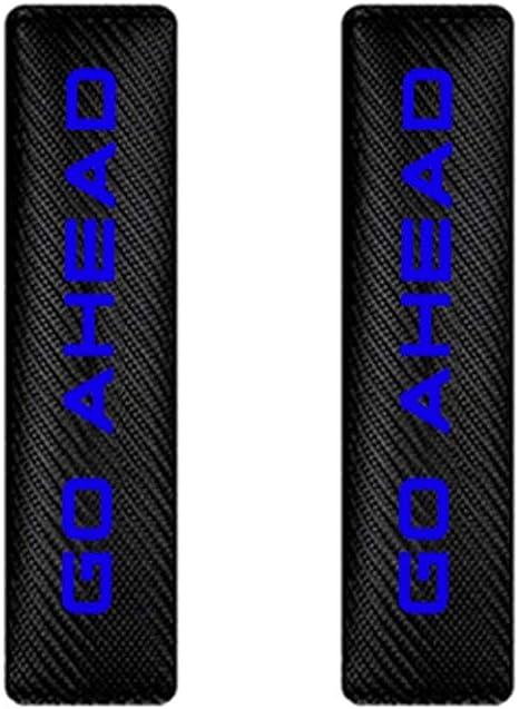 Maiqiken 2/pz Universal Car Seat Belt Comfort Spalline in Fibra di Carbonio con Adesivi Riflettenti Cintura di Sicurezza coperture per Auto Camion SUV