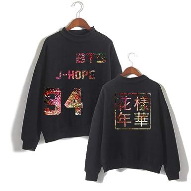 SERAPHY Unisex BTS Hoodies Bangtan Boys BTS Love Yourself Sweatshirts Round Neck Jumper Suga Jin Jimin Jung Kook J-Hope V