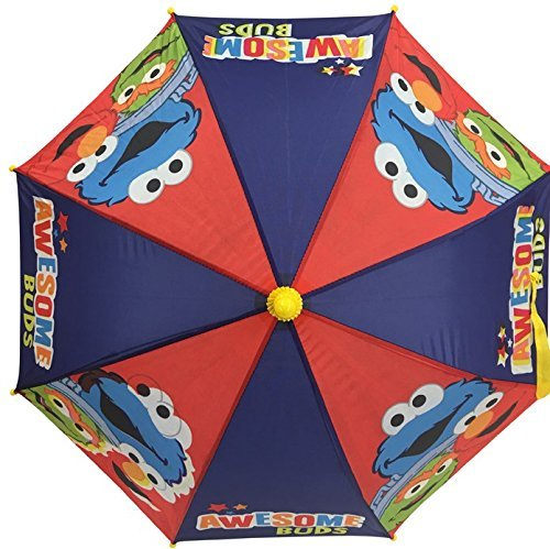 (Sesame Street Elmo Boys Girls Umbrella With 3d Handle)