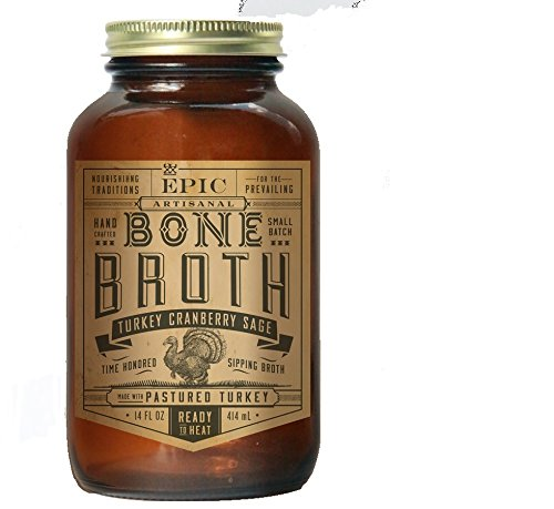 Marrow Bone Soup (Epic Bone Broth, Turkey Cranberry Sage, 14 Ounce (Pack Of 6))