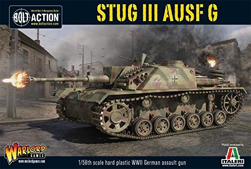 Bolt Action StuG III AUSF G German Assault Gun Tank 1:56 WWII Military Wargaming Plastic Model ()