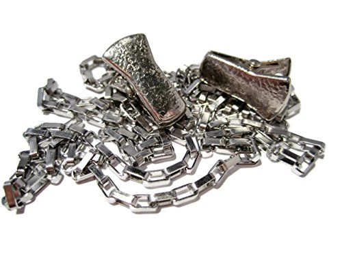 ATLanyards Rectangle Box Chain Clip Eyeglass Holder - Glasses Chain with Alligator Clips