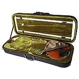 SKY 16 Inch Viola Oblong Case Lightweight with Hygrometer Black/Green