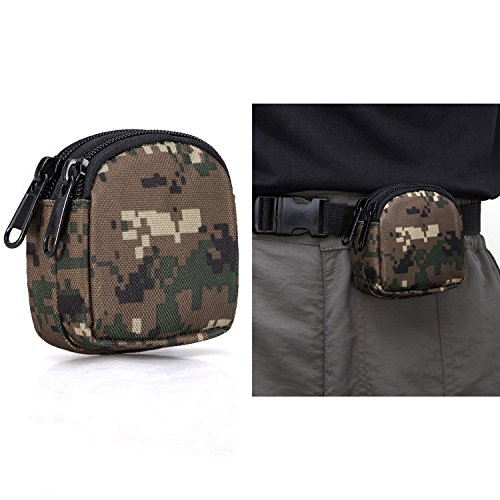 BIENNA Small Tactical Pouch, Mini Military Purse Organizer Army Molle Gear [Waterproof][Dual Layer Pockets] Nylon EDC Utility Gadget Outdoor Waist Bag Holster Cover for Change Key EDC Men Women-WD