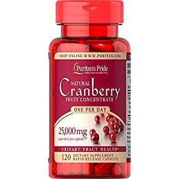 amazon com puritans pride one a day cranberry capsules 120 count