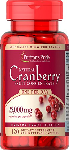 Puritan's Pride One A Day Cranberry Supplement, Urinary Health Supplement, 120 Rapid Release Capsules (Deals 1 Day Sale)