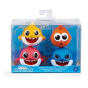 WowWee Pinkfong Baby Shark Bath Squirt Toy – 4 Pack