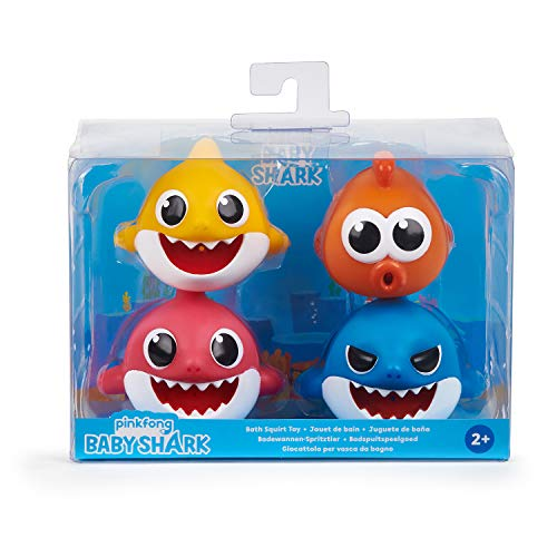 514 rGxBJ9L - WowWee Pinkfong Baby Shark Bath Squirt Toy - 4 Pack