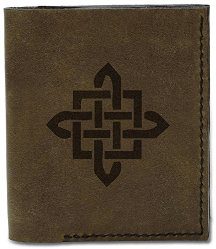 d Wallet 13 Leather 04 Celtic Celtic MHLT Circle Circle Design Genuine Tattoo Natural Handmade Tattoo Men's ZSfwqBx