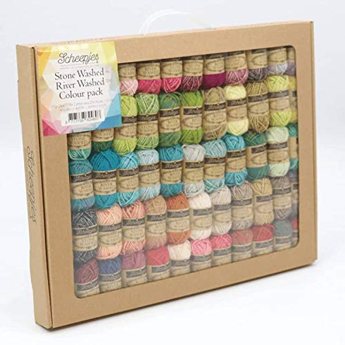 Scheepjes Yarn Stone Washed + River Washed Color Pack