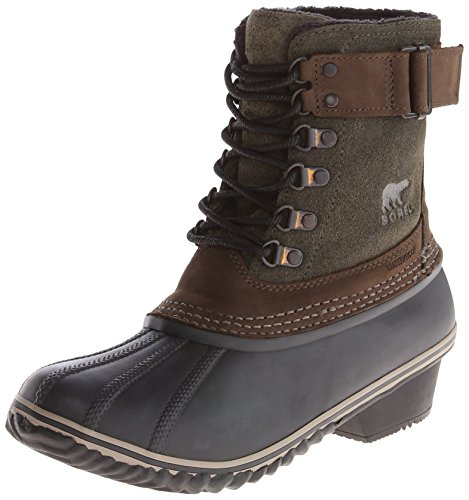 M US // 37-38 EUR, Black//Silver//Sage SOREL Womens Winter Fancy Lace II Boot 6.5 B