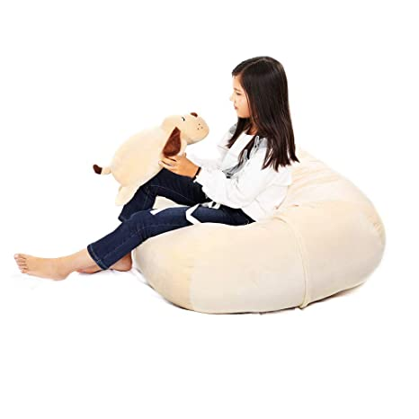 Remarkable Stuffed Animal Storage Bean Bag Cover 37Inch Large Size Organization Velvet Extra Soft Stuffie Seat With 31Inch Double Head Zipper For Kids Toys Gmtry Best Dining Table And Chair Ideas Images Gmtryco