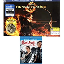 A Taste for Blood Fantasy Double Feature Hansel & Gretel Witch Hunters Blu Ray + 3D & Hunger Games with Mockingjay Pendant Exclusive Special Edition 2 - Pack