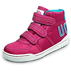 Orlando Johanson New Boys and Girls Sneakers Velcro High Top Warm Boot Casual Shoes (Little Kid/Big Kid) Pink1.5 M US Little Kid Comfortable