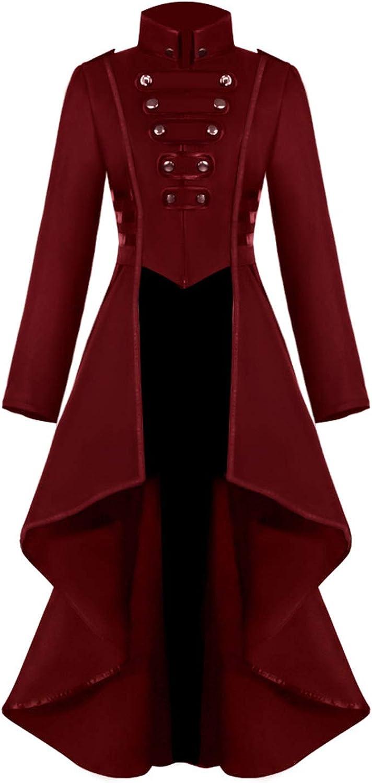 Medieval Renaissance Gothic Victorian Vampire Jacket Frock Coat Onancehim Halloween Steampunk Tailcoat Costume for Women