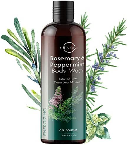 O NATURALS Mens Body Wash & Cleansing Body Wash for Women. Peppermint Essential Oils, Rosemary Essential Oil Shower Gel. Body Soap Skin Care. Tea Tree Oil Foot Care Nail, Athletes Foot 16oz