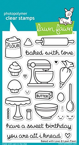 Lawn Fawn Clear Stamp - Baked With Love (LF805) by Lawn Fawn