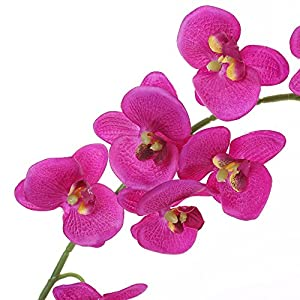 Felice Arts Artificial Flowers 6.6ft 32 Heads Butterfly Orchid Home Decor Fake Flower for Wedding Home Office Party Hotel Restaurant 9