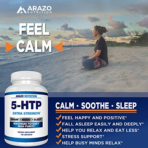 5-HTP 200 mg Supplement - 120 Capsules - Arazo Nutrition by Arazo Nutrition (Image #3)