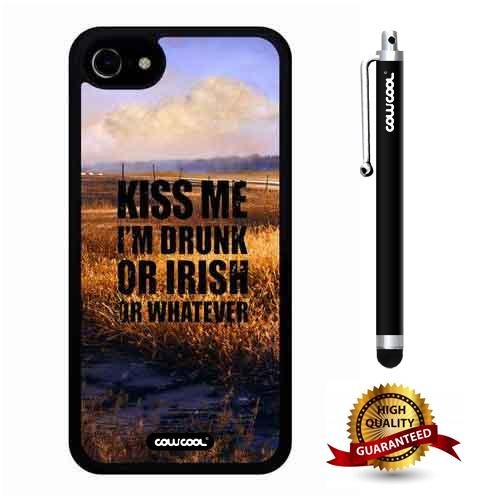 (iphone 8 Case, iphone 7 Case, Scenery Case, Cowcool Ultra Thin Soft Silicone Case for Apple iphone 7 8 - Crop Kiss Me I Am Drunk Or Irish Or Whatever)