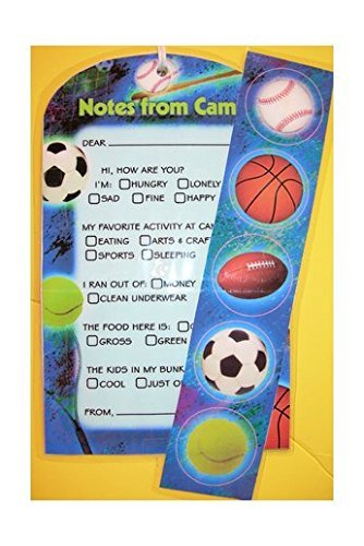 Bunk Junk Sports Fill in Fold-over Stationery - Fold Over Stationery