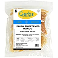 GERBS Dried Sweetened Mango Slices, 32 ounce Bag, Unsulfured, Preservative, Top 14 Food Allergy Free