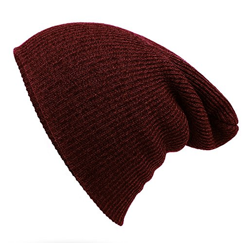 [Striped Needle Warm Hat - iParaAiluRy Unisex Luxurious Fashionable Soft Slouchy Knitting Wool Cap Beanie Hat in Winter and] (Bacon Suit Adult Costumes)