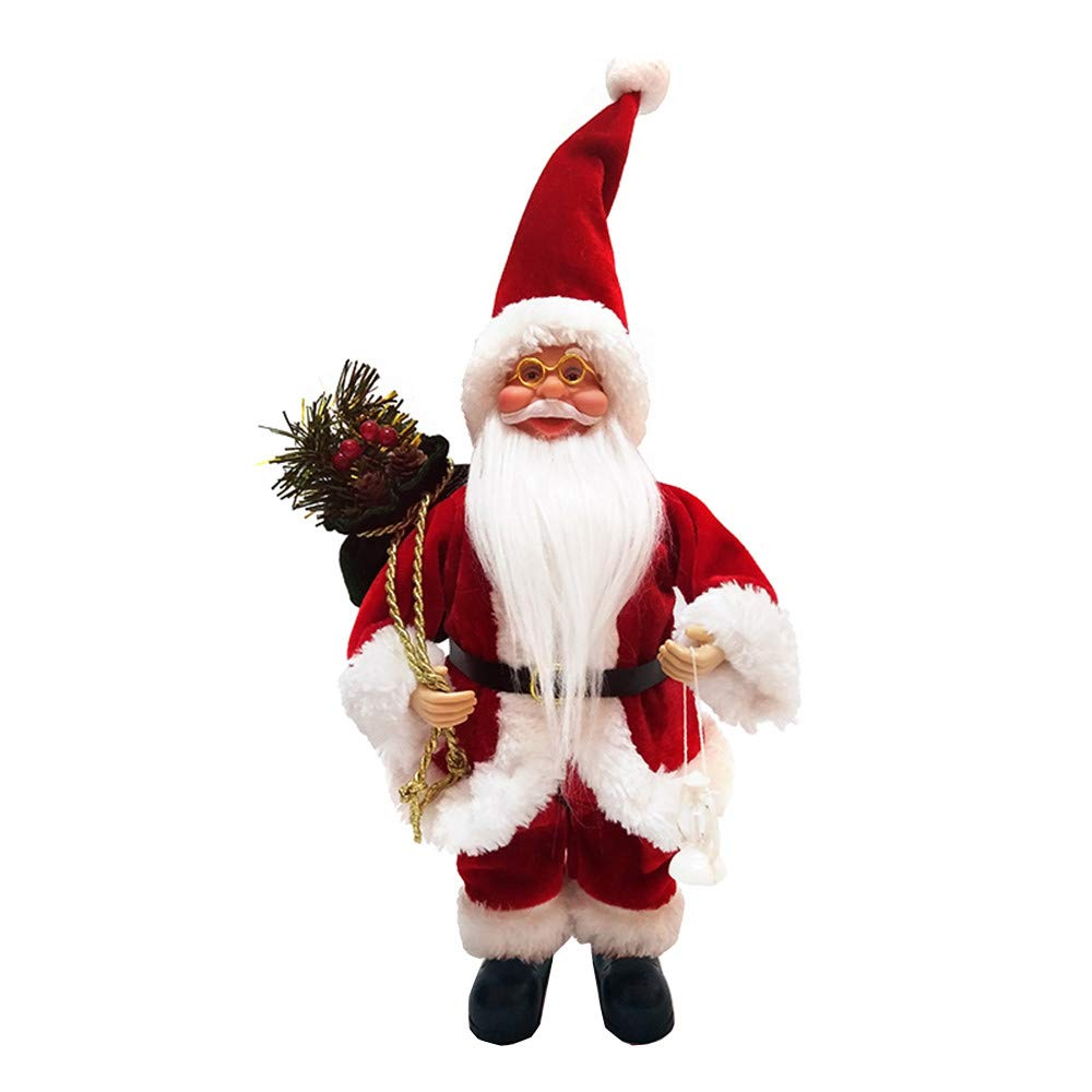 Leewa Christmas Santa Claus Doll Toy Decor Ornaments for Merry Chirstmas Home Decoration Gift (A)
