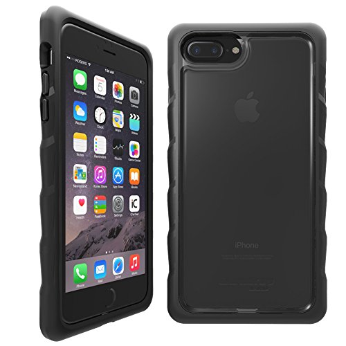 Gumdrop Cases DropTech for Apple iPhone 8 Plus (2017) A1864, A1897 and iPhone 7 Plus (2016) A1661, A1784 Rugged Phone Case Shock Absorbing Cover, Black / - Smoke Snap Case Hard